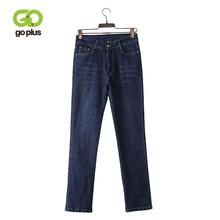 GOPLUS High Waist Jeans Large Size Women Straight Pants Skinny Woman Plus Jean Taille Haute Femme Spodnie Damskie
