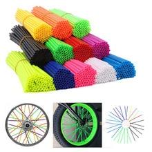 Bike-Wheel-Spoke Cover Bicycle-Decoration Motorcycle Wraps Plastic 72pcs Sleeves Tire