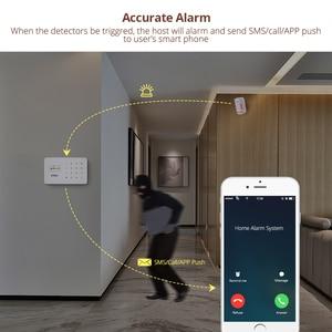 Image 4 - Kerui G18 Встроенная антенна сигнализация PIR детектор движения Беспроводной дыма вспышки Siren ЖК дисплей GSM sim карты дом охранной сигнализации Системы