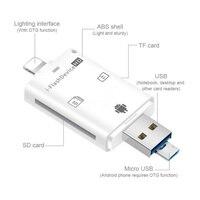 Weiß Speicher Kartenleser Adapter OTG SD TF ich-Flash Gerät HD Für iPhone 12 IOS 14 Android