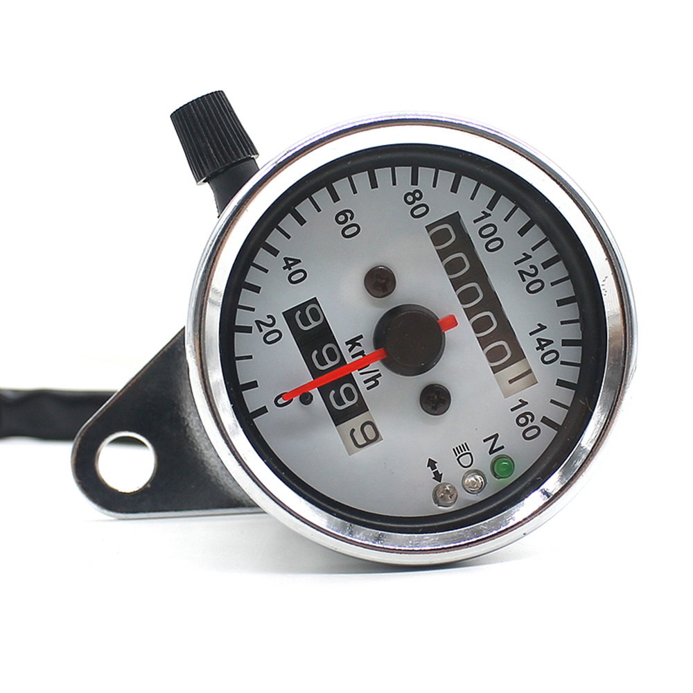 Compteur moto compteur de vitesse odomètre jauge compteur de vitesse numérique LCDScreen indicateur tachymètre moto Vintage en alliage d'aluminium
