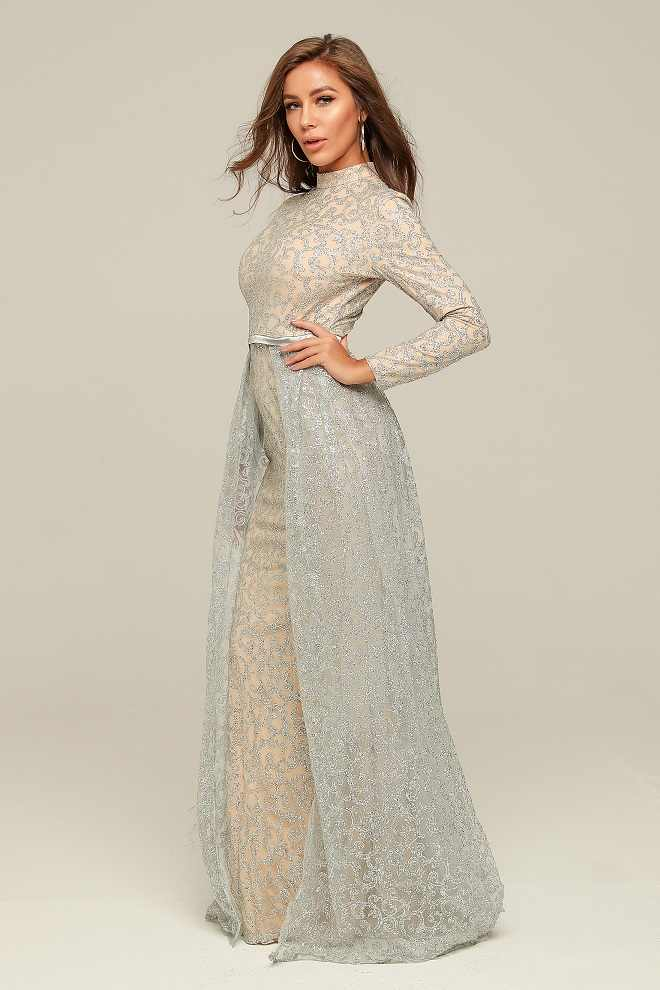 ロングスリーブエレガントロングドレス女性ファッションナイトクラブセレブパーティーの秋冬セクシーなドレス卸売