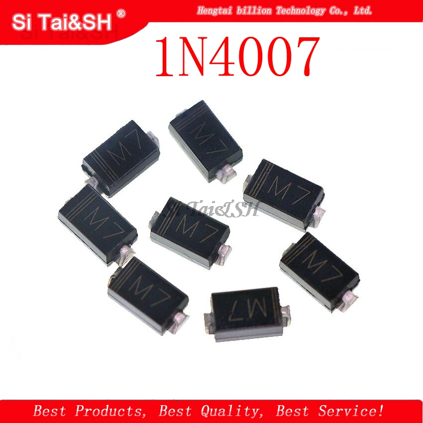 100PCS <font><b>1N4007</b></font> <font><b>SMD</b></font> <font><b>DIODE</b></font> M7 1A 1000V IN4007 Rectifier <font><b>Diode</b></font> New original image