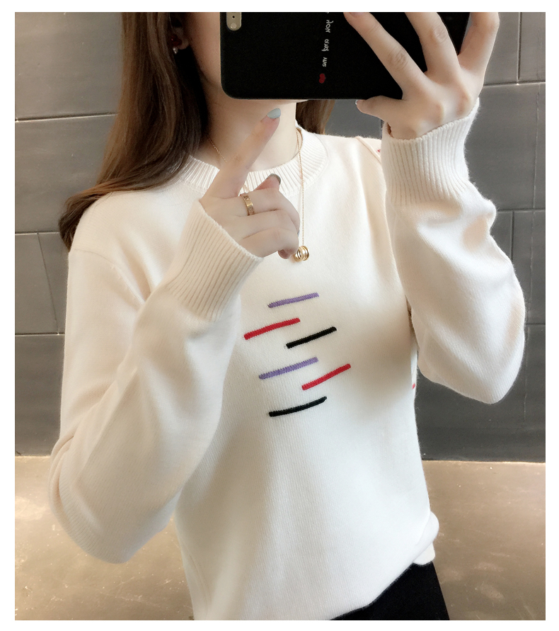 Sweaters women's 19 new fashion Korean loose autumn winter knitting bottoms wear Western clothes 14