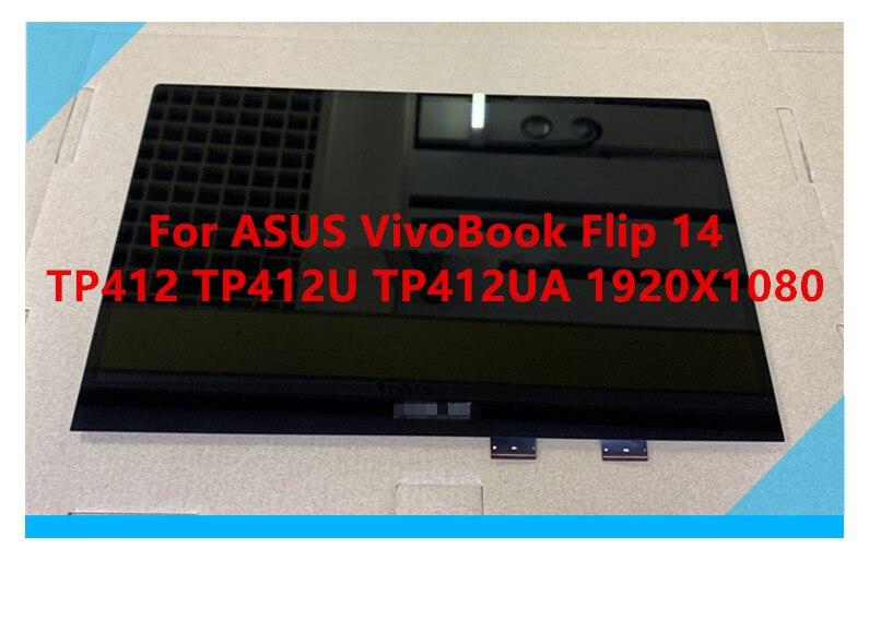 14,0 LCD De La Asamblea De Pantalla Táctil Para El For ASUS VivoBook Flip 14 TP412 TP412U TP412UA 1920*1080 N140HCA-EAC