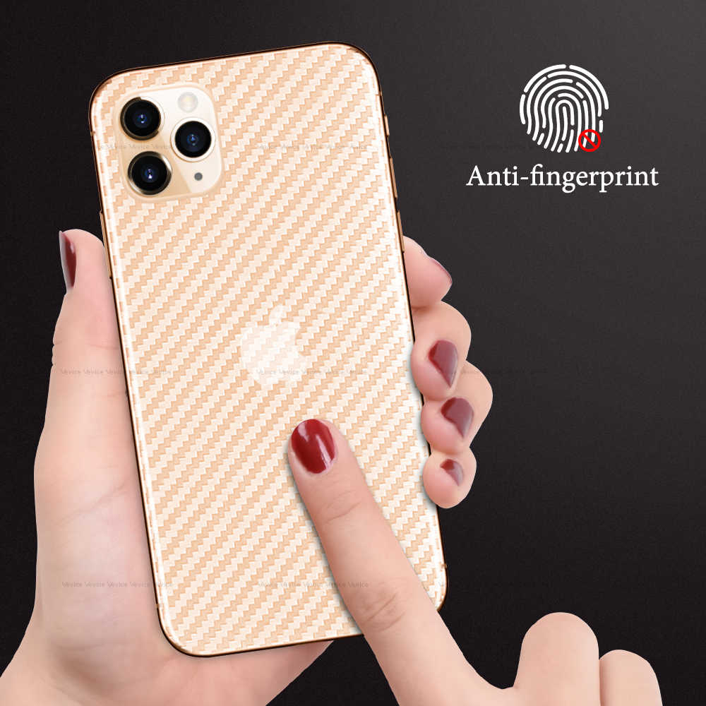 Sợi Carbon Cho Iphone XR 11 Pro XS Max Che Phủ Toàn Bộ Miếng Dán Kính Cường Lực Cho iPhone X 7 8 6 6S Plus 11 11Pro Max Phía Sau Tấm Bảo Vệ Màn Hình