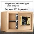 Полностью стальной пароль для отпечатков пальцев, маленький Сейф для дома и офиса, 25 см, электронный пароль для отпечатков пальцев, безопасн...
