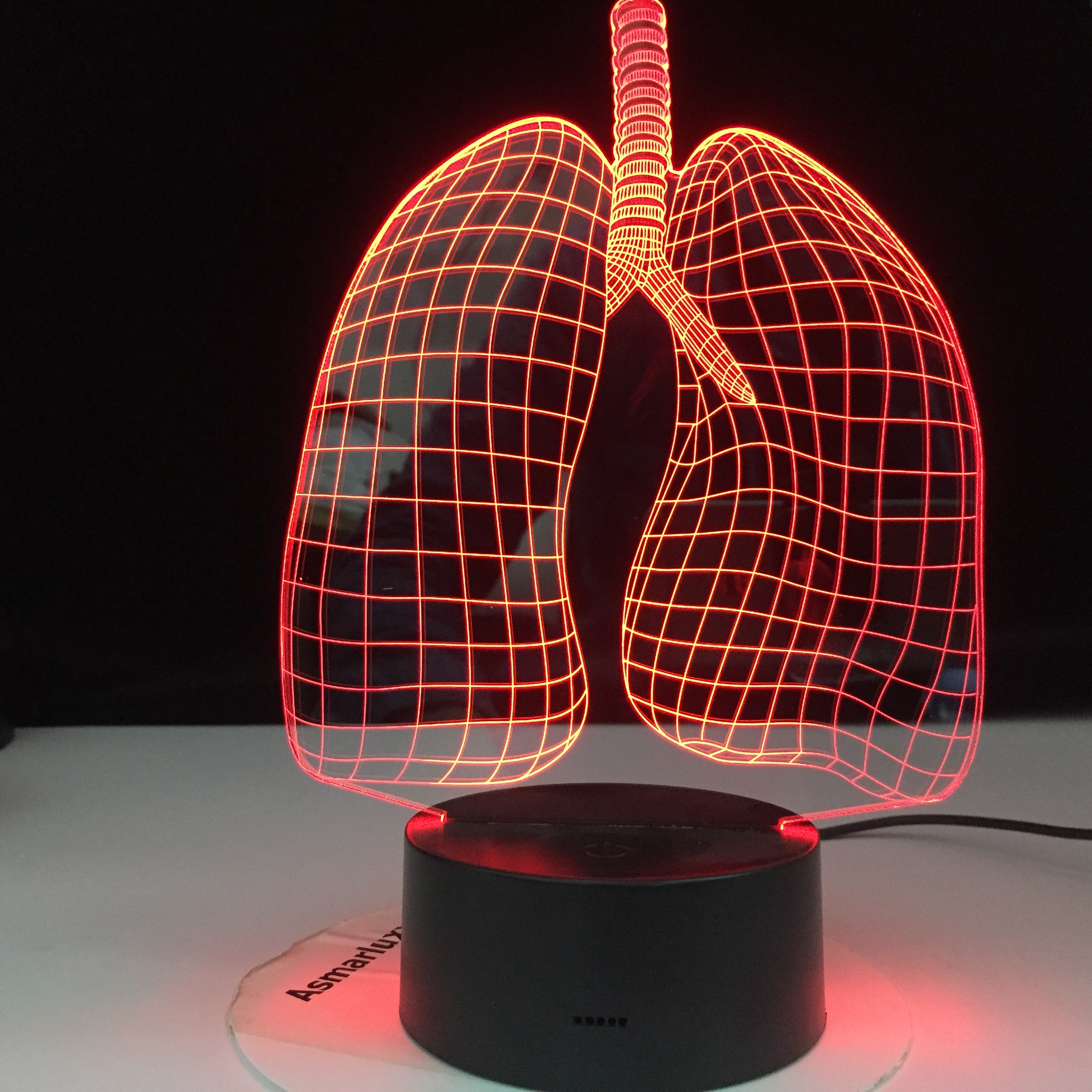 Lungs 3D Illusion Led Night Light Lamp Figure Bedroom Decor Desk Lamp Dropshipping 2020 Gift Nightlight Remote Control