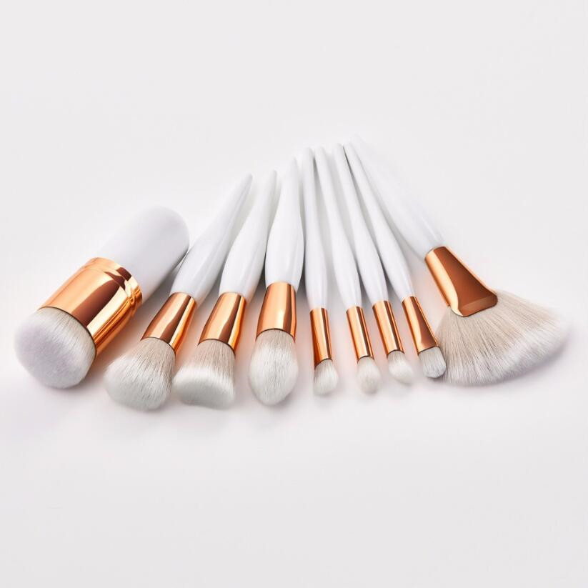 4pcs or 9 Pcs Beauty Tools Sets Makeup Brushes Chubby Brush/ Flame/ Flat Head/ Micro Brush 2 Colors Blusher Foundation Concealer