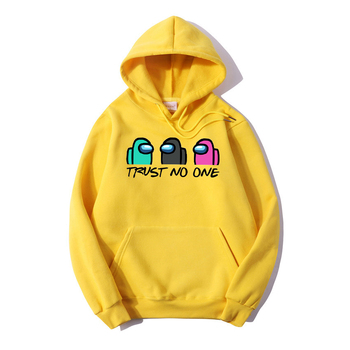 winter cartoon sweatshirt Among Us Trust No One Hoodies Unisex  Hoodie Male Hoody Fashion basic casual Funny  Hoody streetwear