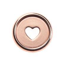 30 шт. сердце блокнот гриб отверстие кнопка блокнот пластиковый лист катушки 360 градусов складной диск Пряжка офисные принадлежности