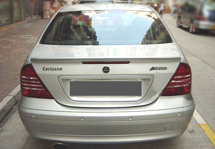 For Benz <font><b>W203</b></font> <font><b>Spoiler</b></font> 2001-2006 C-class C180 C200 C63 <font><b>Spoiler</b></font> PU Car Rear Wing <font><b>Spoiler</b></font> Primer and paint color image