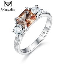 Kuololit Diaspore Zultanite Gemstone Ring for Women Solid 925 Sterling Silver Jewelry Half size Ring for Wedding Fine Jewelry