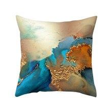 Housse de coussin Vintage imprimée marbre bronzant, taie d'oreiller artistique, décoratif, pour salon, canapé, 45x45cm