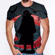 Uchiha sasuke itachi 3d t shirt male o neck cartoon tee tops