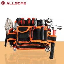 ALLSOME Electrician Canvas Tools Bag Waist Pouch Belt Storage Holder Organizer Varieties Tool Kits Waist Packs
