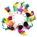 10 шт. игрушки для домашних животных, кошки, накладная мышь, мини забавные игрушки для кошек с красочными перьями, Плюшевые Мини-мыши, игрушки,...