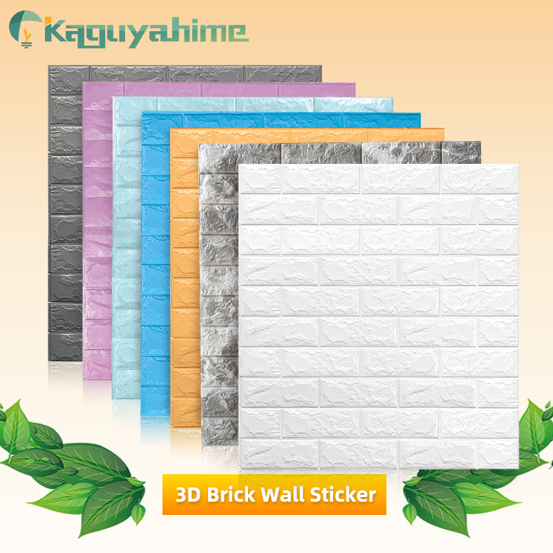 3D Wall Stickers Wood Marble Brick Peel And Self-Adhesive Wall Paper Waterproof DIY Kitchen Bathroom Home Wall Decal Sticker