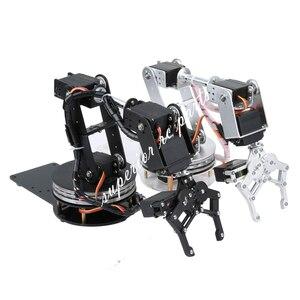 Image 1 - Arduino Robot 6 DOF Alluminio Morsetto Claw Mount Meccanico Braccio Robotico Servi Metallo Servo Horn con Ruota Flangia di Base 20% OFF