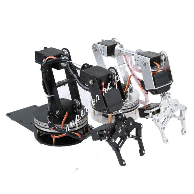Arduino Robot 6 DOF Alluminio Morsetto Claw Mount Meccanico Braccio Robotico Servi Metallo Servo Horn con Ruota Flangia di Base 20% OFF