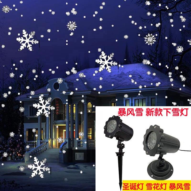 Işıklar ve Aydınlatma'ten Sahne Aydınlatması Efekti'de Noel kar tanesi lazer ışık kar yağışı projektör IP65 hareketli kar açık bahçe lazer projektör lambası yeni yıl partisi dekoru title=