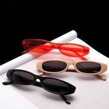 Retângulo do vintage óculos de sol feminino gato olho designer senhoras pequeno quadro preto vermelho óculos de sol marca retro magro eyewear