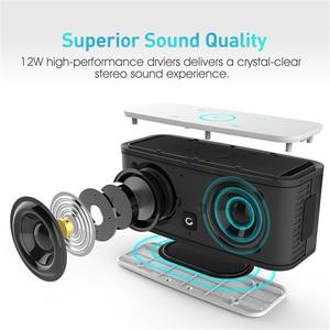 Image 4 - דוס SoundBox מגע ורוד Bluetooth רמקול 2*6W נייד אלחוטי רמקולים סטריאו צליל תיבת עם בס Parlante bluetooth טור