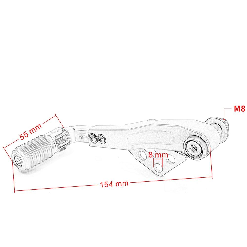R1200GS LC R1200GS ANNONCE Moto Réglable Shift Levier À Pédale Toe Chevilles Pour montage pour siège arrière montages pour siège arrière pour BMW R 1200GS LC R 1200GS ADV - 2