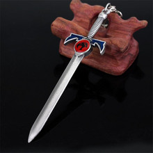 Anime Thundercat Sword Keychain Men Weapon Model Key Chain Key Rings Car Accessories Souvenirs