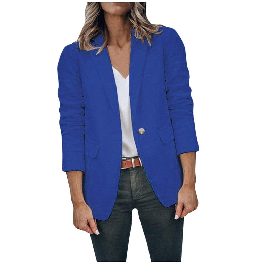 Ladies Blazer  Business Office Wear Solid Long Sleeve Suit Coat Feminine Blazer Autumn Outwears Tops   #Zer