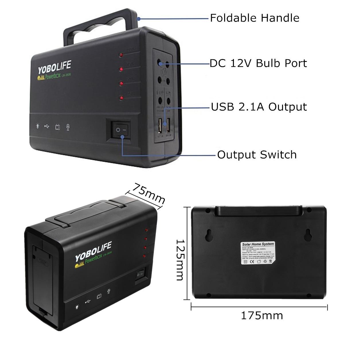 Светодиодная лампа USB зарядное устройство 18 в солнечная панель генератор питания домашняя система Комплект перезаряжаемая герметичная сви...