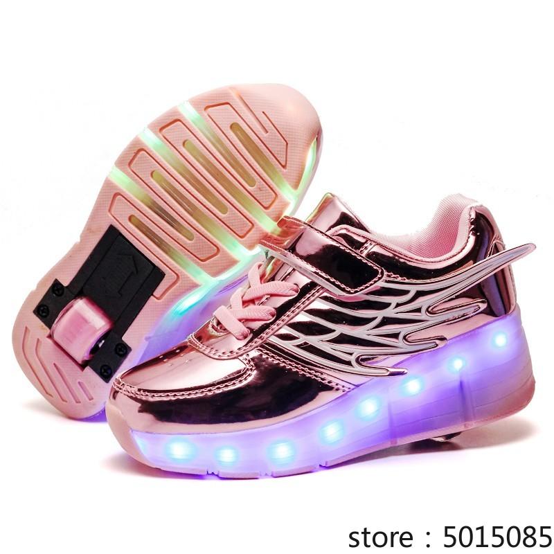 Children Kids Shoes Boys Girls Light Up