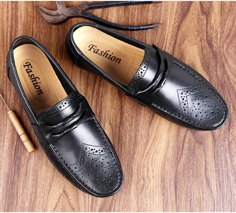 H1149857cf1fb438980eebb6d3df7eca4P Men Loafers Shoes Genuine Leather Casual Sneakers Male Fashion Carved Boat Footwear Soft Dress Party Shoes Men Chaussure Homme