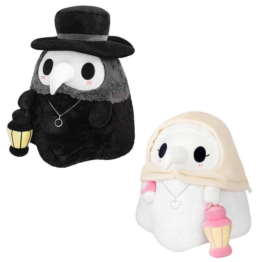 Couple lumineux dessin animé Animal peste médecin bec en peluche jouet saint valentin bec docteur fête accessoires de bal en peluche cadeaux