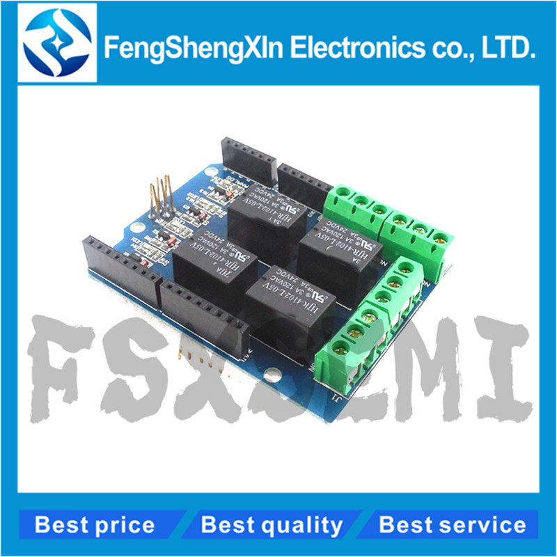 1pcs New 4 Channel <font><b>5V</b></font> Relay Shield Module Four Channel Relay Control <font><b>Board</b></font> Relay Expansion <font><b>Board</b></font> for arduino Diy Kit image