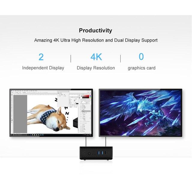 Chatreey AC1-Z Fanless mini pc intel J3455 J4125 Quad core windows 10 linux Dual HDMI  industrial computer HTPC 6