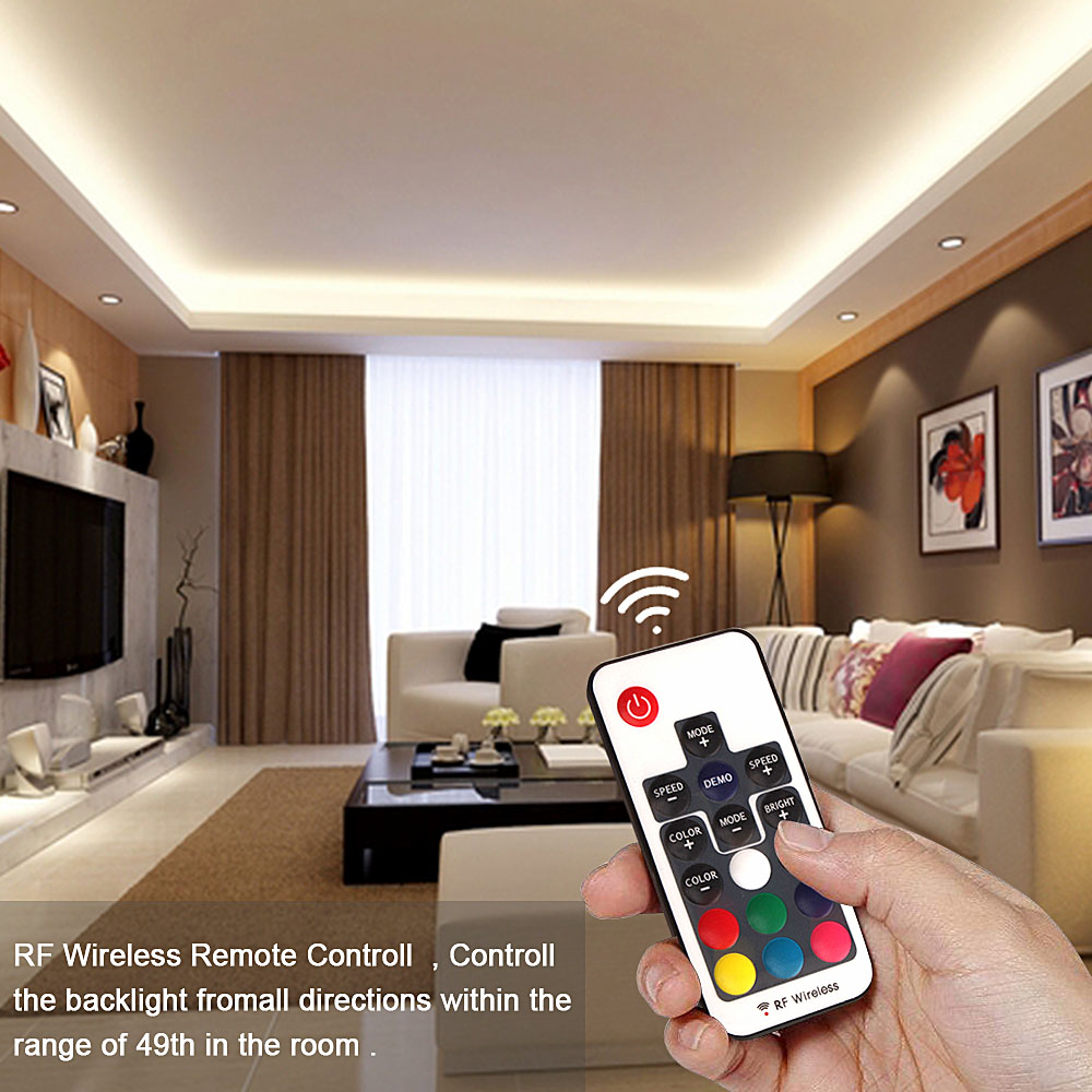 H1149d186c0a648cc9ab78820867a2edcz RGB Tape Bluetooth USB LED Strip TV Background Flexible Neon Ribbon tira Lamp 5V 0.5M SMD 5050 RF Controller LED RGB Strip Light
