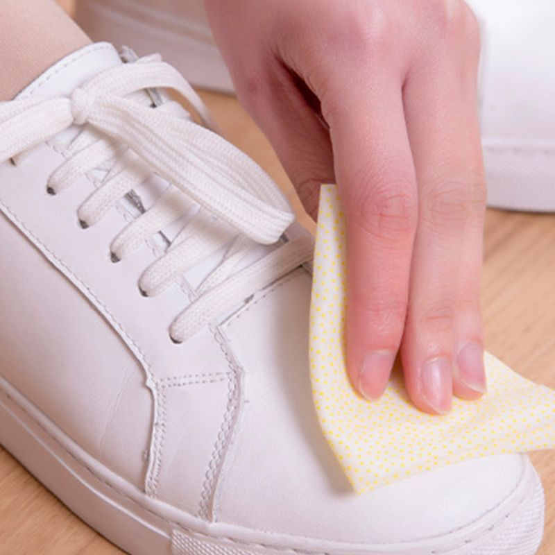20 Pcs/box Portable Sneakers White Shoes Cleaning Wipes Disposable Leather Shoe Clean Wet Towels