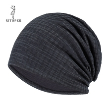 RITOPER Solid Beanies Unisex Fashion Skullies Winter Casual