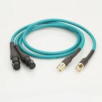 HiFi Cardas RCA to XLR Balanced Female plug Audio Cable Cardas Cross Audio Amplifier CD DVD player RCA interconnect cable