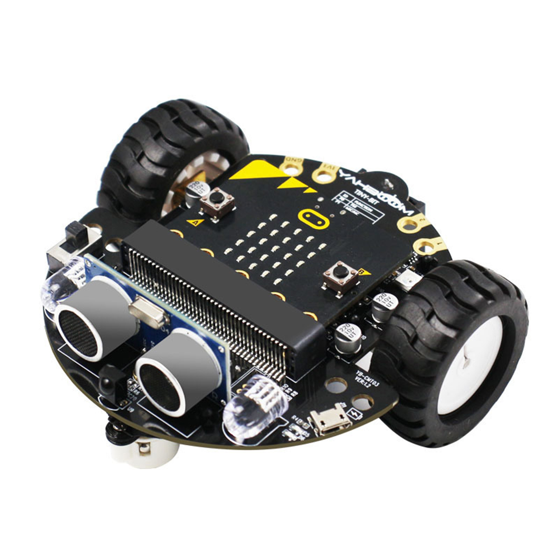 DIY Obstacle Avoidance Smart Programmable Robot Car Educational Learning Kit without Mainboard for Micro:bit Gift for Children 2
