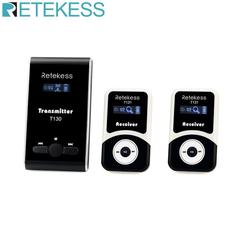 Retekess Wireless Tour Guide system 1 Transmitter T130 + 2 Receiver T131 for Church Translation system Factory Tour Training
