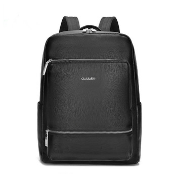 Men Genuine Cow Leather Backpack Laptop Waterproof Male Office Bag Business Bag High Quality Men Daypacks Casual Travel Bag