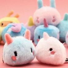 New Unicorn Stuffed Toys Geometric monster Series Kawaii Keychain Plush For Children Christmas Gift