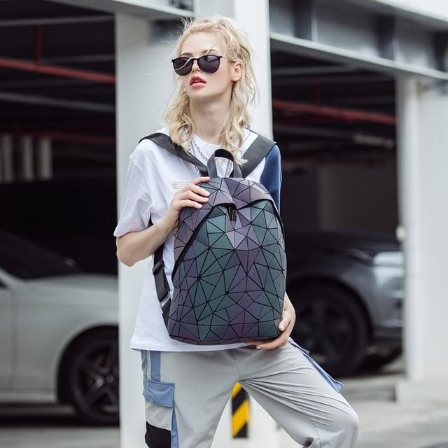 Luminous Backpacks Women Geometric Laptop Backpack 5