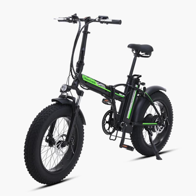 20 Дюймов 48 в электрический велосипед 500 Вт Мотор Снежный жир электровелосипед складная рама 48В 15ач литиевая батарея FAT tire Электрический горн...