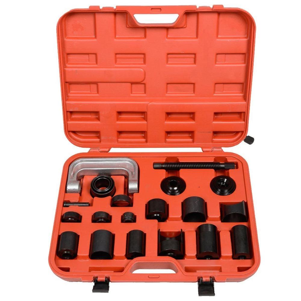21PCS Ball Joint Separator Arm Puller Remover Ball Extractor Universal Press Adapter Ball Joint Removal Tool Set
