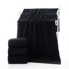 New 3Pieces Black Cotton Towel Set for Men toalla 2pc Face Washcloth Hand 1pc Bath Camping Shower Towels Bathroom