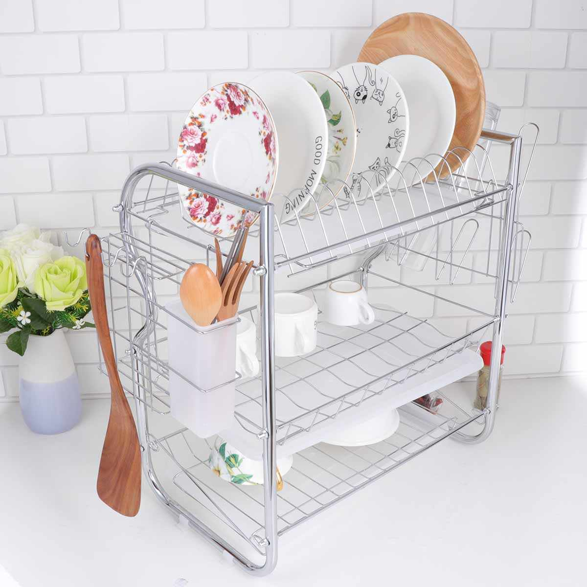 Dish Drainer Iron Art Kitchen Cutlery