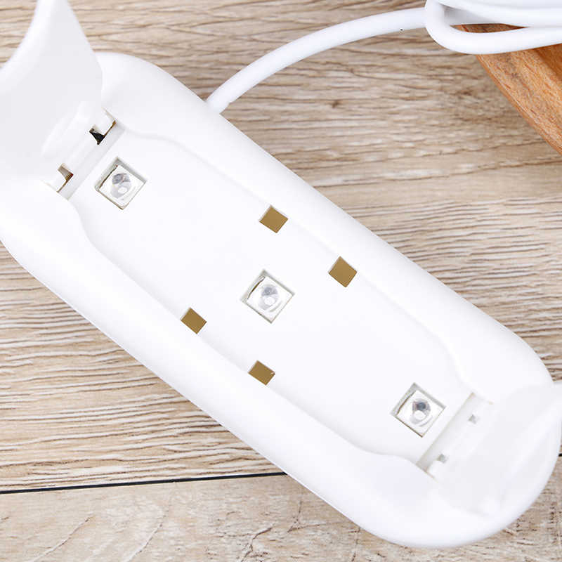 6W 80cm Mini UV LED Lamba USB Şarj jel cilalı kürleme Makinesi Tırnak Kurutucu
